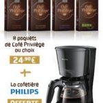 Pour l'achat de 8 paquets de café (24,90€) = Cafetière Philips …