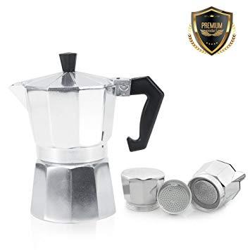 Cafetière Italienne En Aluminium 3/6/9/12 Tasses Pot café Moka Cuisinière