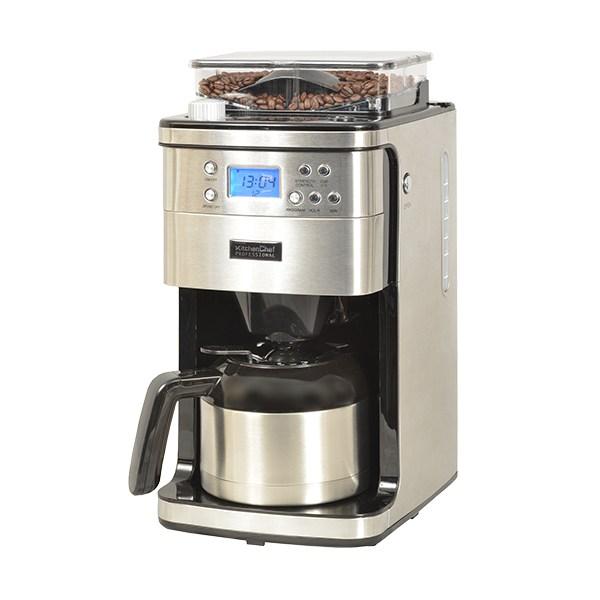 Cafetière programmable avec broyeur 1000 W Kitchen Chef Professional zoom