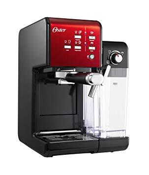 OSTER Cafetière Expresso Prima Latte II, avec Traitement de Lait, Rouge, 0