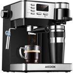 Aicook Machine à Café Espresso, Cafetiere Italienne 3 in 1 ( Machine à  expresso et