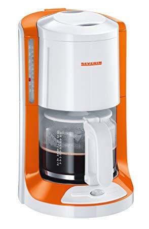 Severin 4158 Cafetière électrique 1000 W 1.4 L Blanc Orange