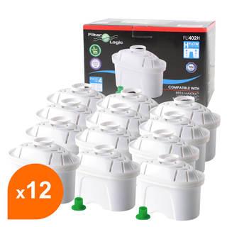 Cartouche compatible Brita Maxtra - Filtre carafe filtrante FL-402H (lot de  12)