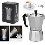 ... ITALIEN-NEUF-Espresso-Latte-CAFETIERE-Cafetiere-pour-1-