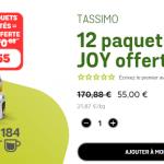 Cafetière Tassimo Joy offerte pour l'achat de 12 paquets (184 …