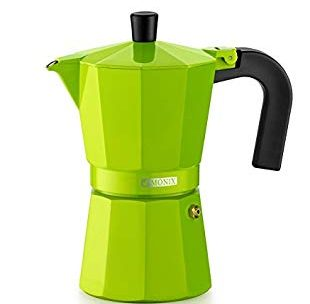 Monix Cafetière italienne en aluminium 6 tasses vert: Amazon.fr …