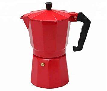 Ernesto Cafetière Italienne Rouge en Aluminium 9 Tasses: Amazon.fr …
