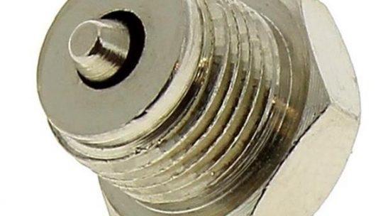 Tua. Valve inox de 15 mm pour cafetière italienne Giannini