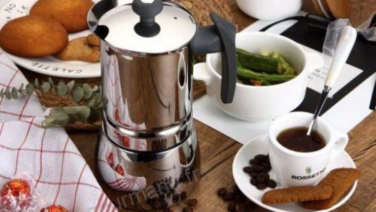 ROSSETTO Cafetière Italienne Induction en Inox 6 Tasses Poignée Gris …