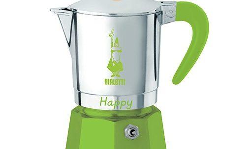 Cafetière italienne Bialetti Happy verte – 3 tasses