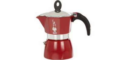 CAFETIERE ITALIENNE BIALETTI MOKA COLOR ROUGE 6 TASSES