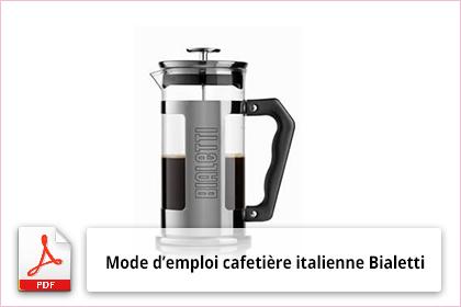cafetiere italienne notice