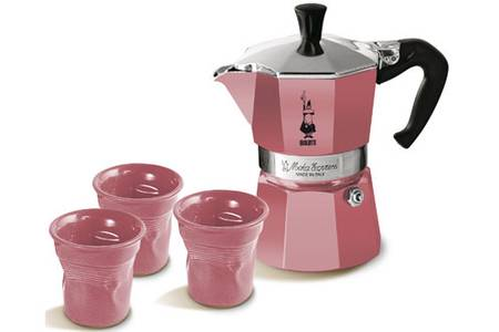 cafetiere italienne rose