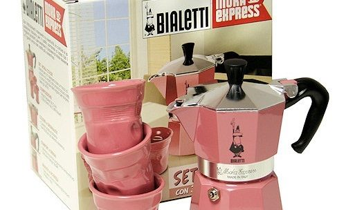 Set Moka Color Rose Bialetti 3 tasses + 3 tasses biacchierini