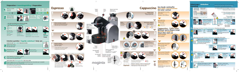 Mode d'emploi MAGIMIX NESPRESSO M 200