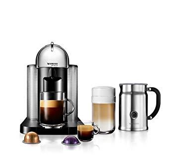 NESPRESSO A + GCA1-U.S.-CH-NE VertuoLine café et cafetière avec mousseur