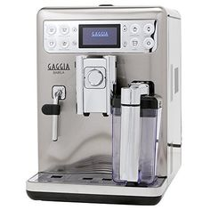 Gaggia RI9700/64 Babila Espresso Machine, Stainless SteelOne contact  preparing and foaming: bean