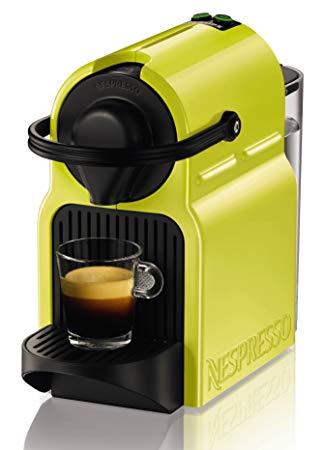 Krups Nespresso xn1002 Inissia Cafetière à Capsules avec pack de bienvenue  avec 16 Capsules, citron