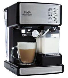 Espresso and Cappuccino Machines 38252: Mr. Coffee Cafe Barista 1040W  Coffee Maker - Silver