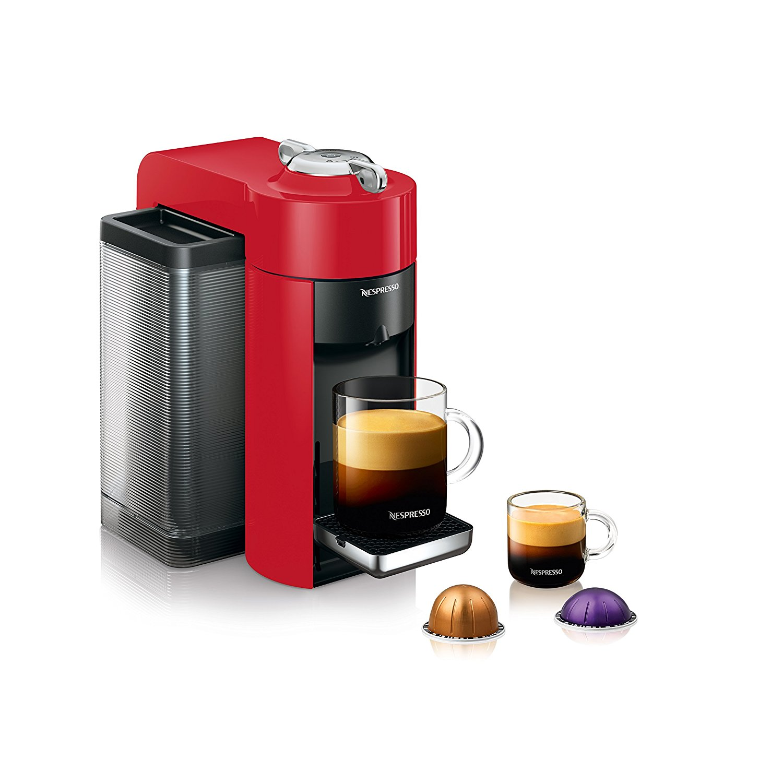 Delonghi Nespresso Vertuo Evoluo RED Single Serve Espresso Machine  ENV135RCA (OPEN BOX- IN STORE