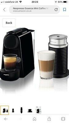 NEW Cappuccino Nespresso Essenza Piano Black Coffee Machine Aeroccino  Frother