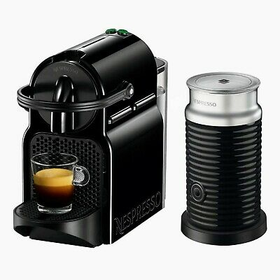 Nespresso Inissia Espresso Coffee Machine Maker by Delonghi with Aeroccino  black