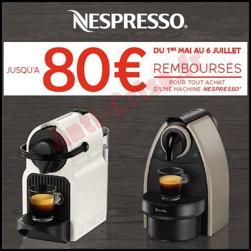 ... Offre de Remboursement (ODR) Krups : 80 € sur Machine Nespresso System  - anti
