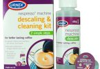 Kit Nettoyant et détartrant Urnex. Urnex Descaling and Cleaning Kit.  Détartrant Krups. Krups Descaler for Nespresso Machines