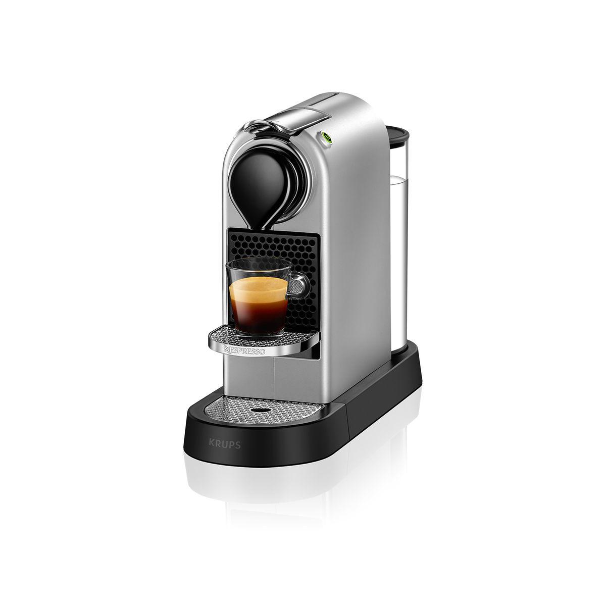 Krups Nespresso Citiz YY2733FD argent - Cafetière à dosettes - 19 bars