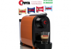 PIPITA COFFEE MACHINE FOR CAPSULES - NESPRESSO COMPATIBLE - ORANGE + 100  CAPSULES CAFFÈ MORENO FOR