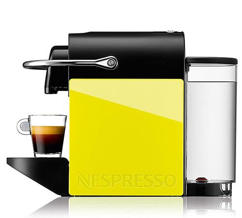 Krups YY1206FD Machine Nespresso Pixie Clip Noir/Jaune + Offre Cadeau.  Cliquez pour agrandir