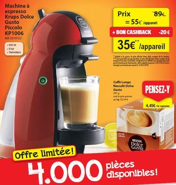 Cafetiere Dolce Gusto Carrefour Market