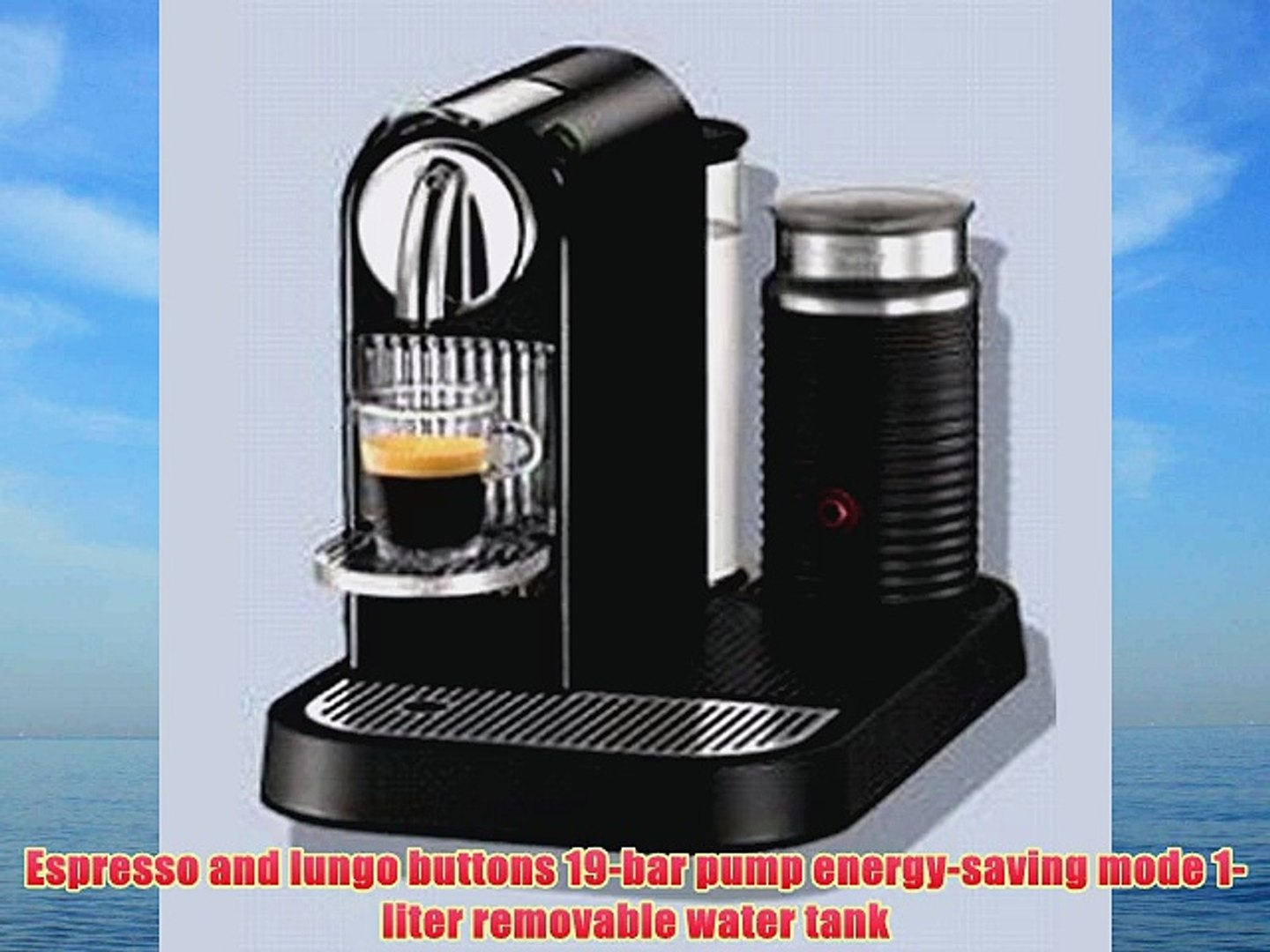 Nespresso D120-US-BK-NE CitiZ Automatic Single-Serve Espresso Maker and  Milk Frother Limousine - video dailymotion