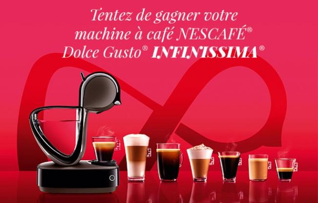 machines à café Infinissima de Dolce Gusto à gagner